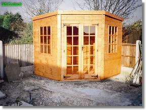 7x7 summerhouses silverwood corner shed supplied only