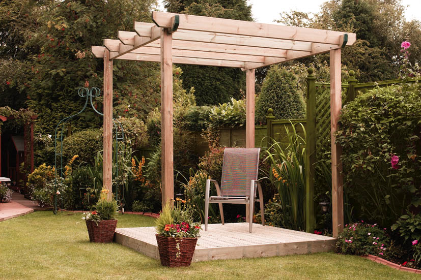 Single Bar Pergola - Fountain Timber Products
